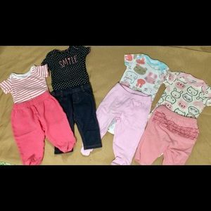 Matching Sets - 0-3 months casual bundle 4 outfits